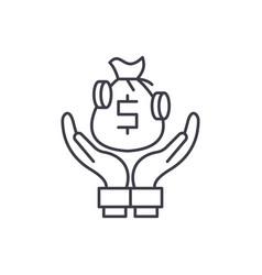 bank deposits line icon concept bank deposits vector image