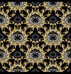 baroque seamless pattern gold baroque wallpaper vector image