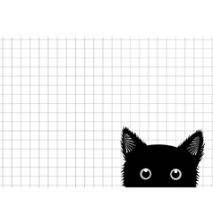 Black Cat Grid Background vector image