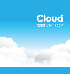 blue cloud background vector image