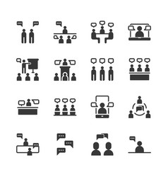 business and people with speech bubble icon set vector image
