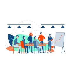 Business presentation training analysis plan vector