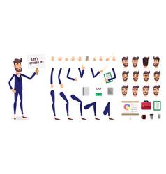 businessman constructor or male cartoon vector image