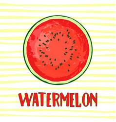 Circle of juicy watermelon vector