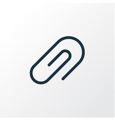 clip icon line symbol premium quality isolated vector image