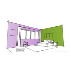 Color Interior Drawing vector image