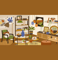colorful hand drawn modern interior vector image