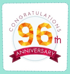 colorful polygonal anniversary logo 3 096 vector image