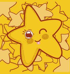 Cute and tender star cartoon vector