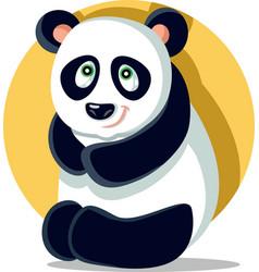 cute panda cartoon character vector image