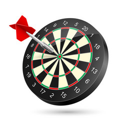 Dartboard with dart on white background vector