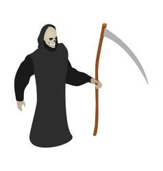 Death scythe icon isometric style vector