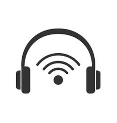 Earphones audio device with wifi signal vector
