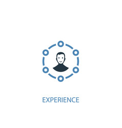 experience concept 2 colored icon simple blue vector image