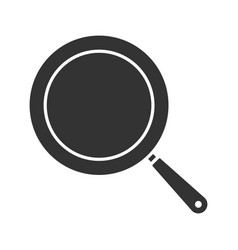 Frying pan glyph icon vector