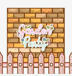 garden party card vector image