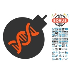Genetic Weapon Icon with 2017 Year Bonus vector