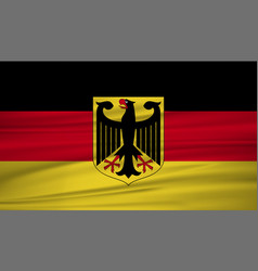 germany flag flag of germany blowig in the wind vector image