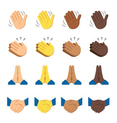 Hands fingers signals over white background vector
