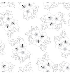 hibiscus syriacus flower outline - rose of sharon vector image