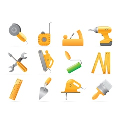 Icons for tools vector image