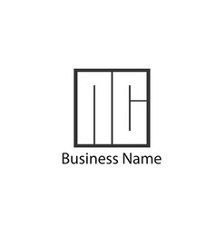 Initial letter nc logo template design vector