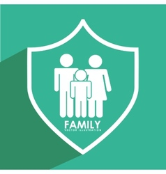 Insurance family vector