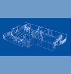 interior sketch vector image vector image
