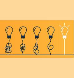 light bulbs on yellow background vector image