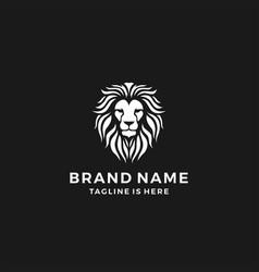 lion head logo template icon vector image