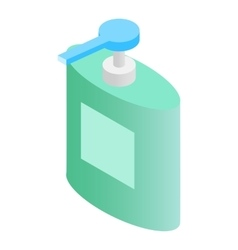 Liquid soap dispenser isometric 3d icon vector image
