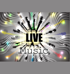 live music guitars in circle vector image