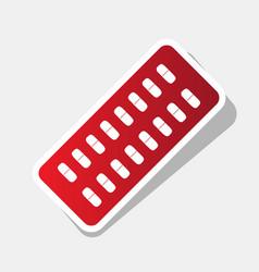 medical pills sign new year reddish icon vector image
