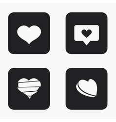 Modern heart icons set vector