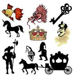 motive of fairy tale vector image