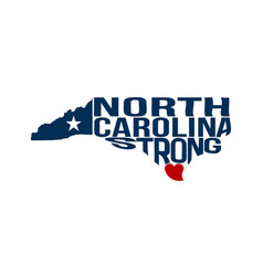 north carolina strong map logo vector image