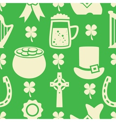Pattern of irish St Patricks Day vector