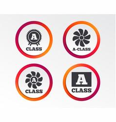 Premium level award icons a-class ventilation vector