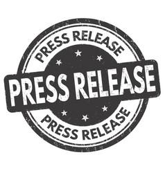 Press release grunge rubber stamp vector