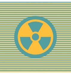 Radiation color flat icon vector image
