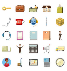 Remittance of money icons set cartoon style vector