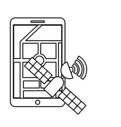 satellite location navigation mobile autonomous vector image