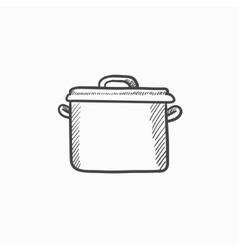 Saucepan sketch icon vector image