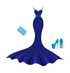 set of fashion evening clothes vector image