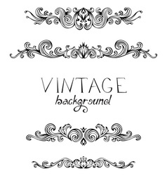 Set of vintage ornate elements for page decoration vector image