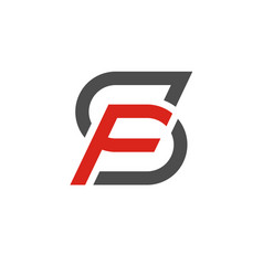 Sf letter logo design template vector