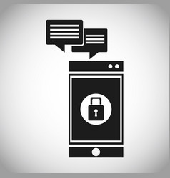 Smartphone security message system vector