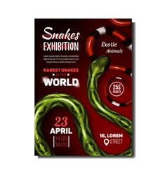 Snake exhibition exotic animals banner vector