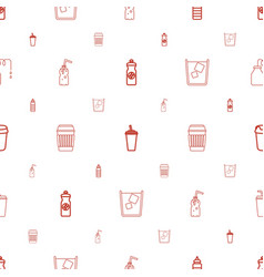Soda icons pattern seamless white background vector