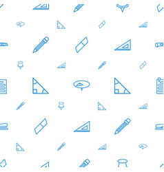 Stationery icons pattern seamless white background vector